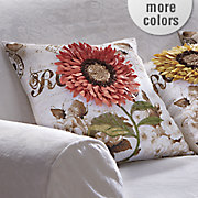 blooming sunflower pillow cover