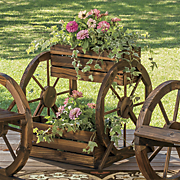 wagon wheel planter 170