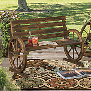 Wagon Wheel Mini Bench