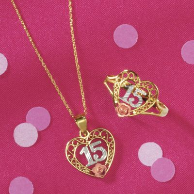 10K Gold Quinceanera Jewelry