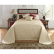 Gardenia Quilted Bedspread, Sham and Decorative Pillow