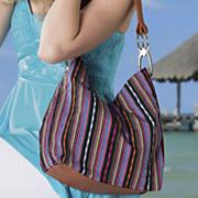 carryall striped bag