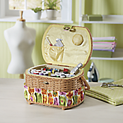 42 pc sewing basket