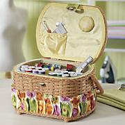 42 pc sewing basket