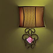 iridescent crystal led wall lamp