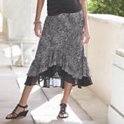 ruffle hi low skirt 2