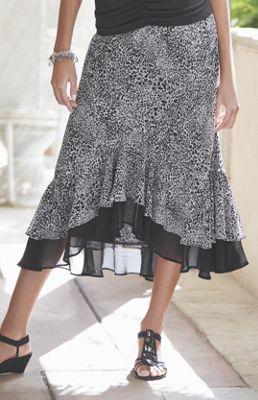 Ruffle Hi-Low Skirt