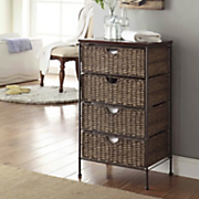 4 drawer maize weave chest