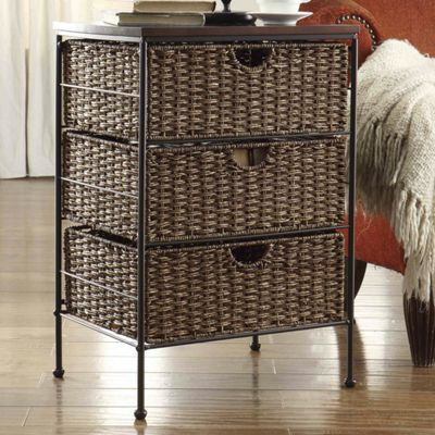 3-Drawer Maize Weave Chest