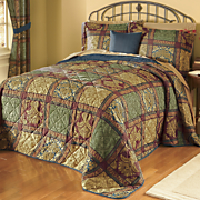 Barcelona Bedspread, Decorative Pillow and Window Treatments