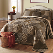 Ellington Brown Bedspread, Decorative Pillow and Window Treatments