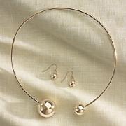 Spheres Collar and Earrings Set