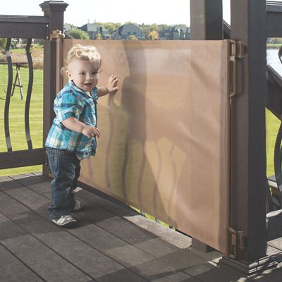 Extra Wide Retractable Outdoor Baby Gate From One Step