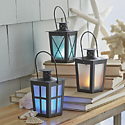 set of 3 color changing lanterns