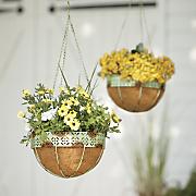 set of 2 hanging flower baskets