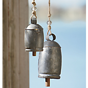 set of 2 garden bells