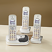 3 Handset Expandable Digital Cordless Phone System by Panasonic
