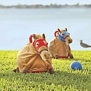 set of 2 race horse hopper balls