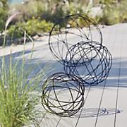 set of 3 garden spheres
