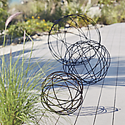 set of 3 garden spheres