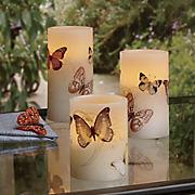 set of 3 led outdoor candles
