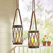 set of 2 rope lanterns