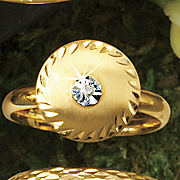 14k gold disc ring