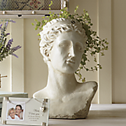 classic bust planter