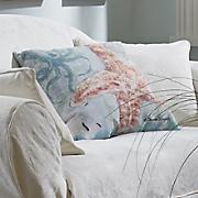 boho coastal starfish indoor outdoor pillow