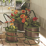 set of 3 garden hose planters