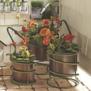 set of 3 garden hose planters