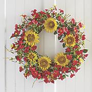 sunny summer wreath