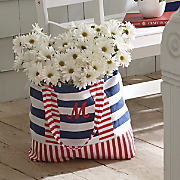 personalized nautical stripe tote