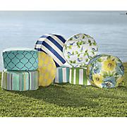 tropical pouf chair