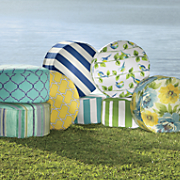 Tropical Poufs and Pillows