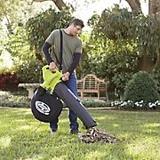 electric 3 in 1 blower vacuum leaf shredder by sunjoe