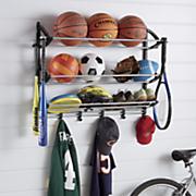 sports equipment organizing rack