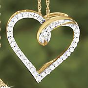 pospaid diamond heart pendant