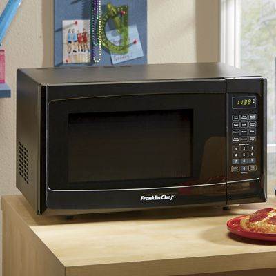 1.2 Cubic Foot Black Microwave by Frankilin Chef