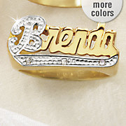 crystal name two tone ring