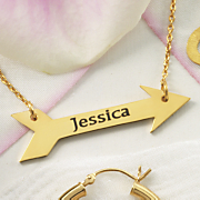 name arrow necklace