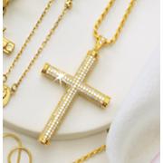 crystal cross pendant 124