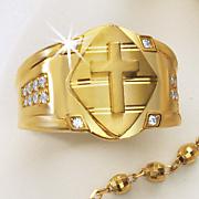 crystal cross ring 233