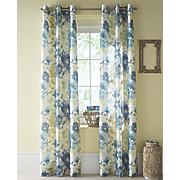 watermark floral grommet top panel pair