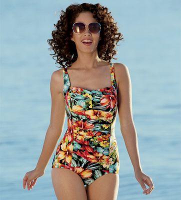 Hot Tropic Glam Girl Leg Swimsuit 1-Piece