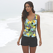 jungle faux tank short 1 piece