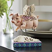 jim shore flying pig figurine