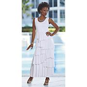 alecia tiered dress