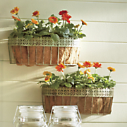 set of 2 wall mount plant baskets