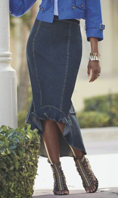 Marlo Denim Tiered Skirt